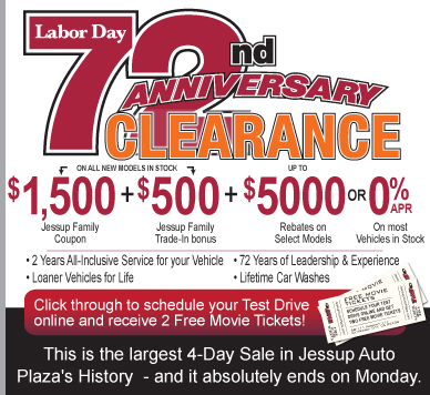 Labor Day Sale at Jessup Auto Plaza